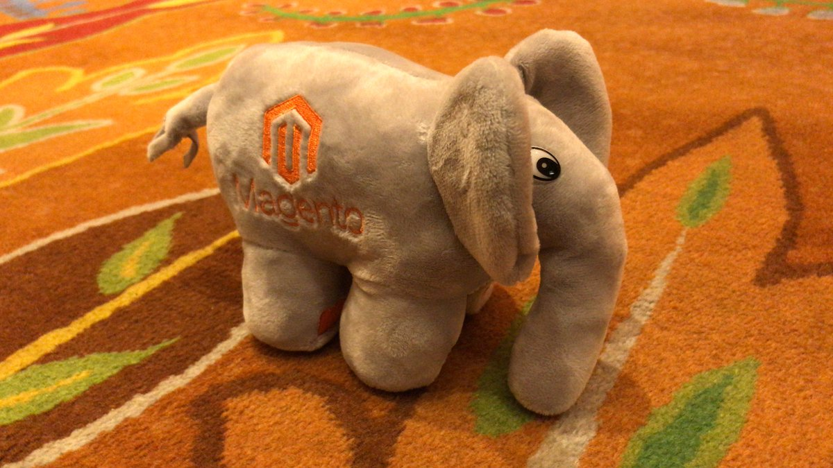 dverkade: Already made new friends at #MagentoImagine. Guess who is joining me this week on my trip back home 🐘 https://t.co/0zpgmYljNu