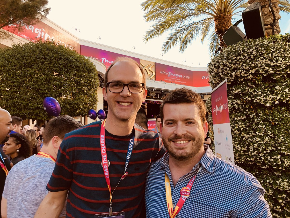 WebShopApps: With @screenpages at #MagentoImagine https://t.co/kfCaOKgw3l