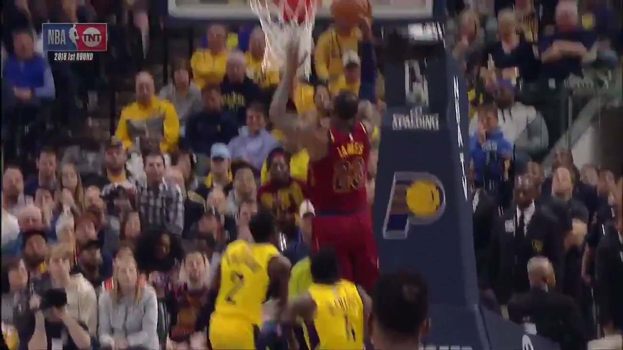 LeBron James posts 23 PTS for @cavs in the opening half of Game 4! #WhateverItTakes #NBAPlayoffs https://t.co/8icTAPUW2r