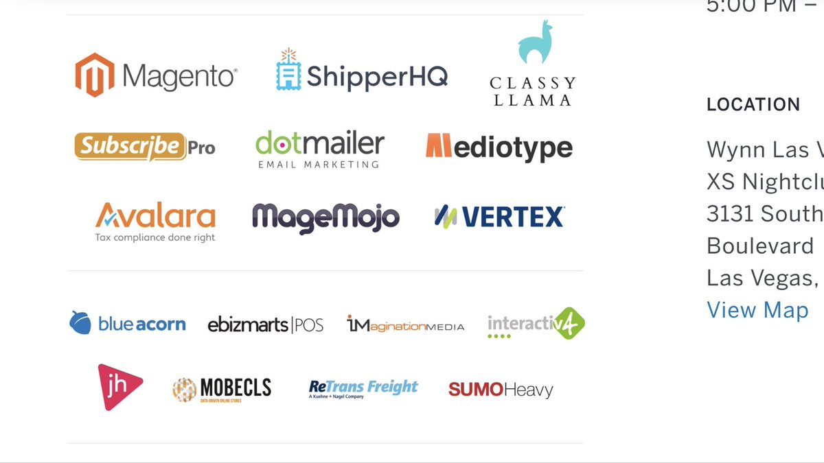 magentogirl: Thank you @ShipperHQ and all the sponsors for a great #PreImagine at XS! https://t.co/tyIjxGAJIG