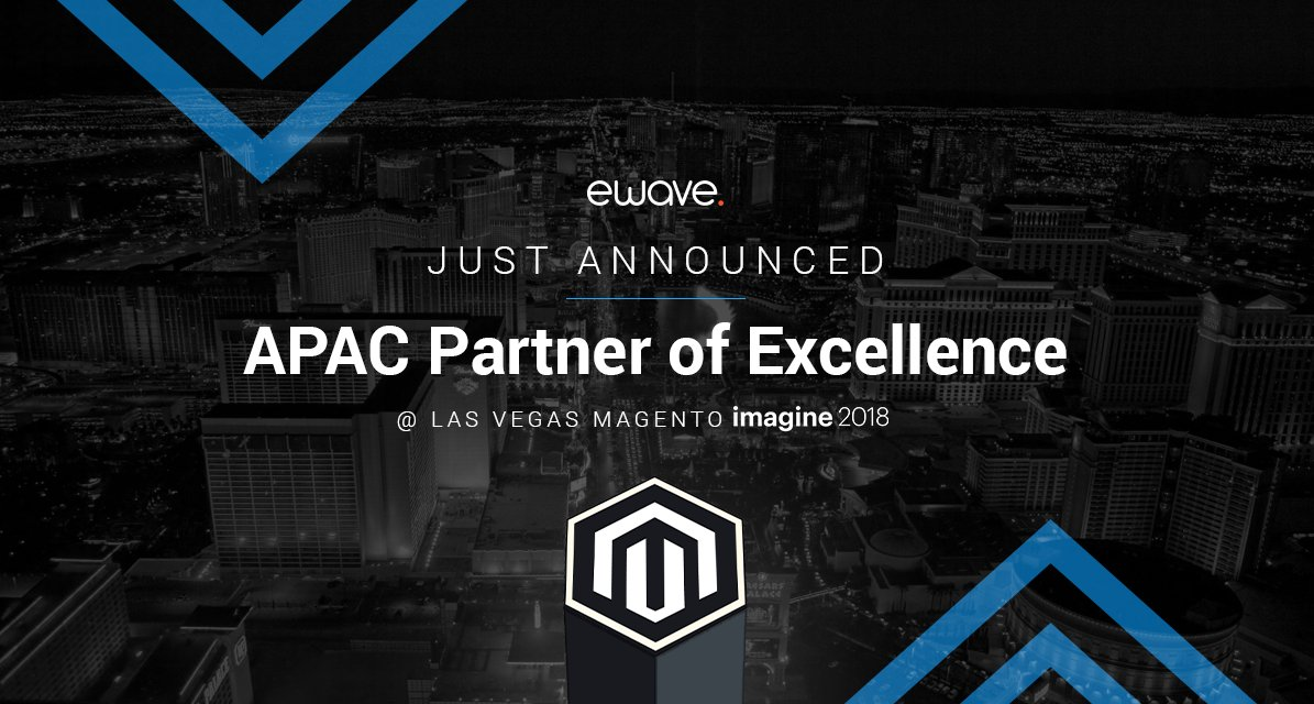 Made_By_eWave: Just announced: eWave have been named @magento APAC Partner of Excellence at #MagentoImagine 2018! https://t.co/pcVvfoZLo4