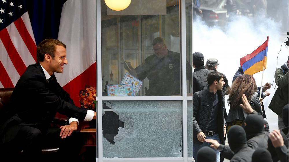 Live: Gunman on run, Armenia protests, France strikes