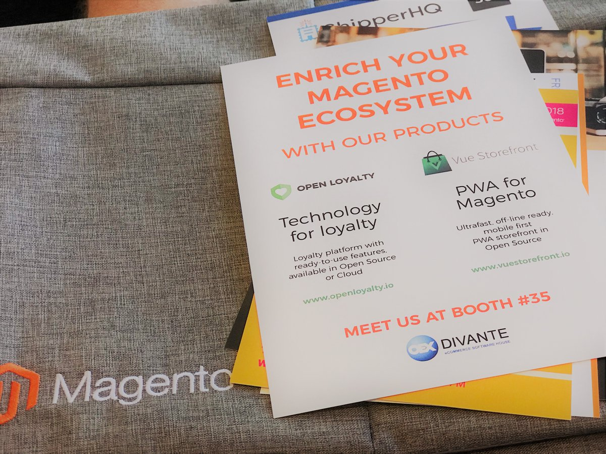DivanteLTD: Waiting anxiously for the first day of the #MagentoImagine #RoadToImagine #LeadTheCharge #magento #pwa #openloyalty https://t.co/v4zOj8cTyy