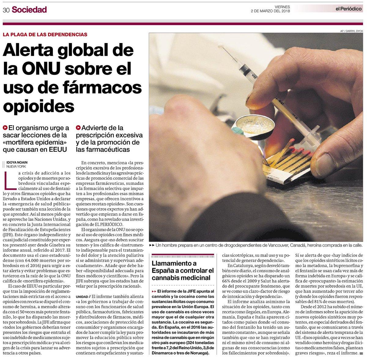 test Twitter Media - Alerta Global de l'ONU en relació a l'ús de fàrmacs opioides @elperiodico https://t.co/9CFQpJWvEv