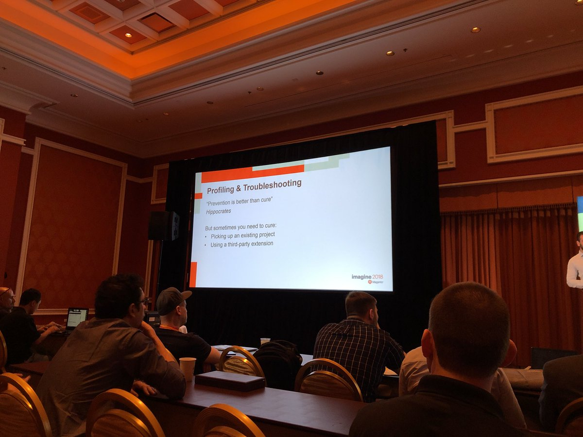"billygilbert: Love the quote Prevention is better than cure"", @renatocason talking #Magento caching at #MagentoImagine https://t.co/94QZeL2BE9"