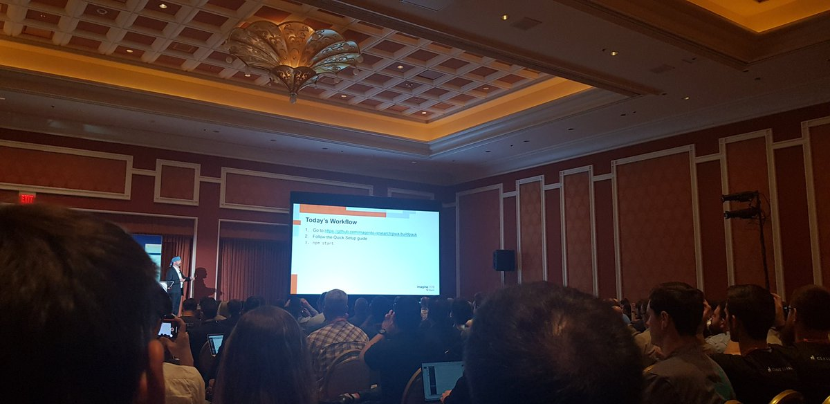 sarmadhassan: Getting started with Magento PWA @stevede5met #MagentoImagine https://t.co/BHm4ffvGRr