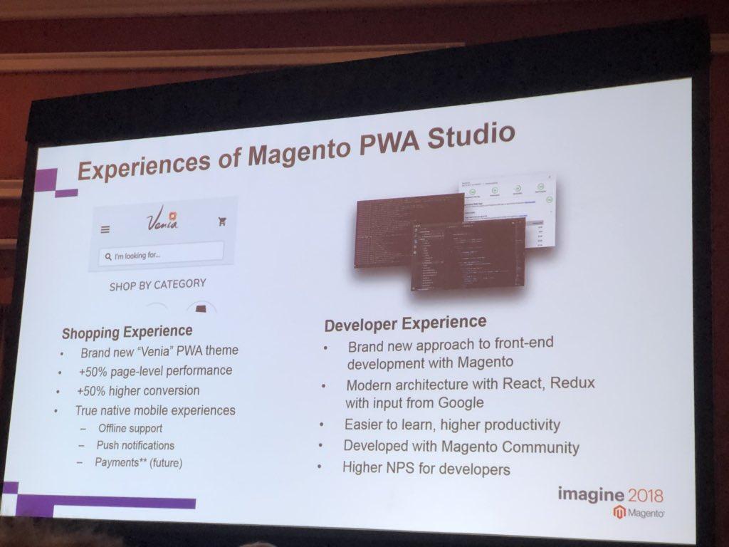 alexanderdamm: Experience of #Magento PWA Studio #MagentoImagine #magento https://t.co/VuqiKTpZJh
