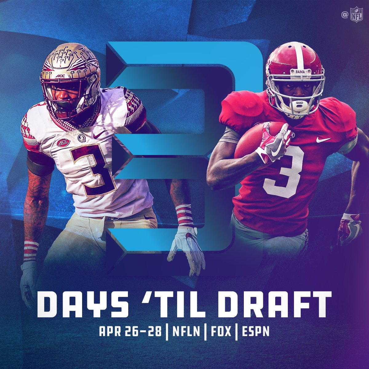 3⃣DAYS until the @NFLDraft! �� https://t.co/tZfzvtshrj