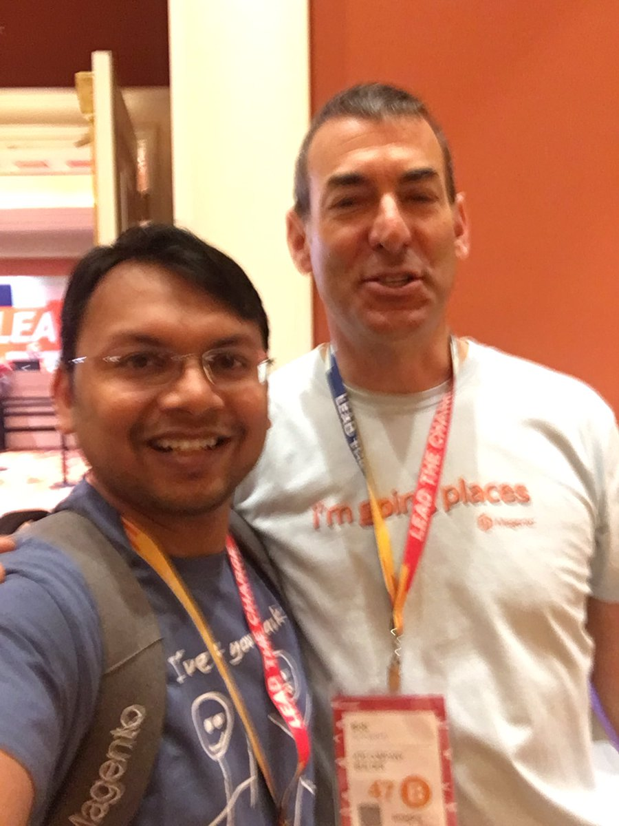 kalpmehta: with @BobSchwartz #MagentoImagine https://t.co/wJT6sUJCTX