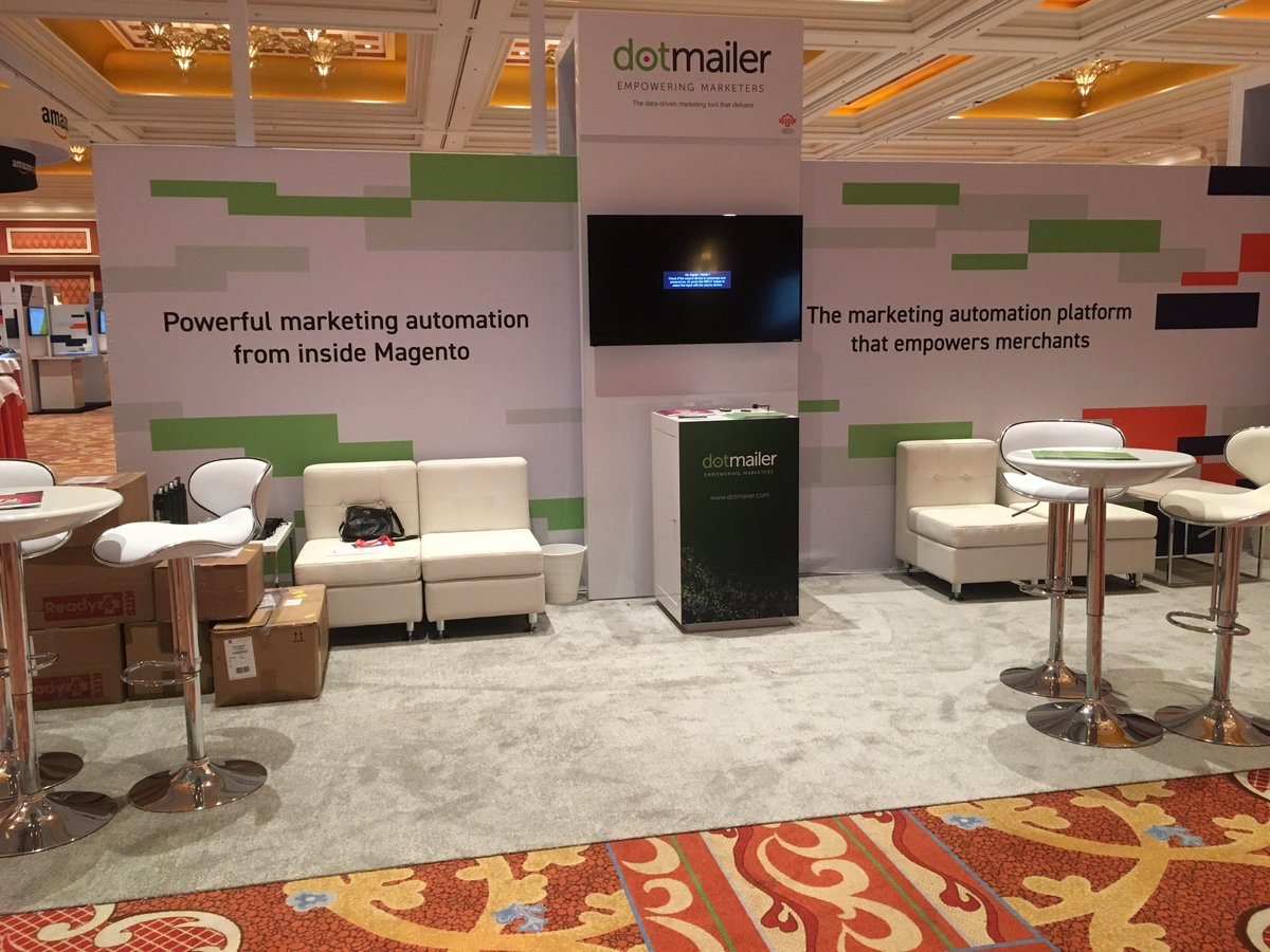 dotmailer: #MagentoImagine booth prep begins...find us front and center at #513! https://t.co/JEnCLoNyfQ