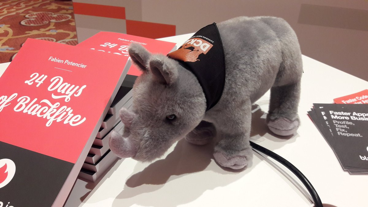 Chris_Dujarric: Awesome swag at #MagentoImagine this year again! Thanks @DCKAP for this badass rhino! https://t.co/i26dk1J26L