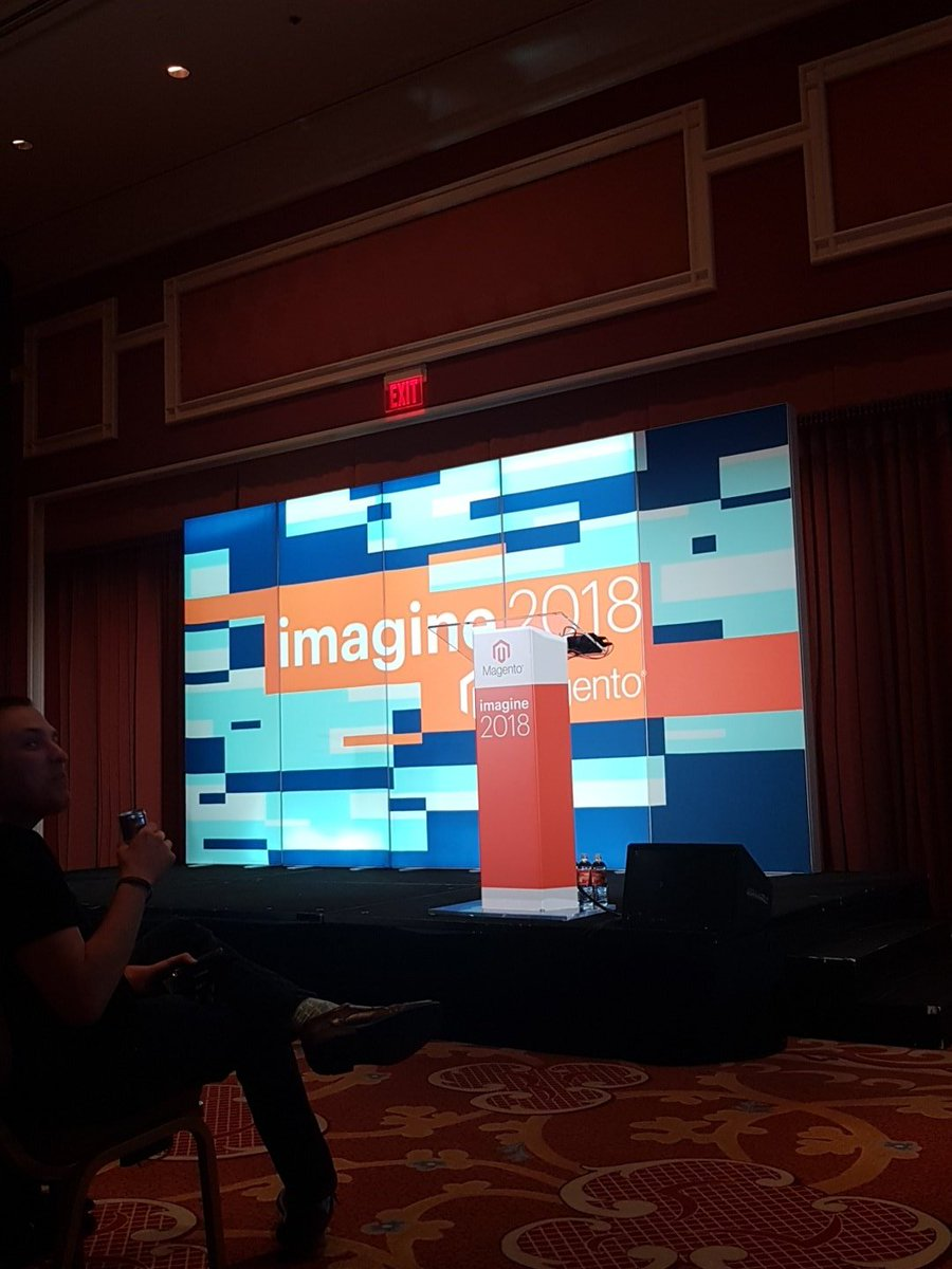 mgeoffray: Let's talk about the new #Magento #PWA Studio at #magentoimagine! #Magento2 https://t.co/Ane69fh7Cp