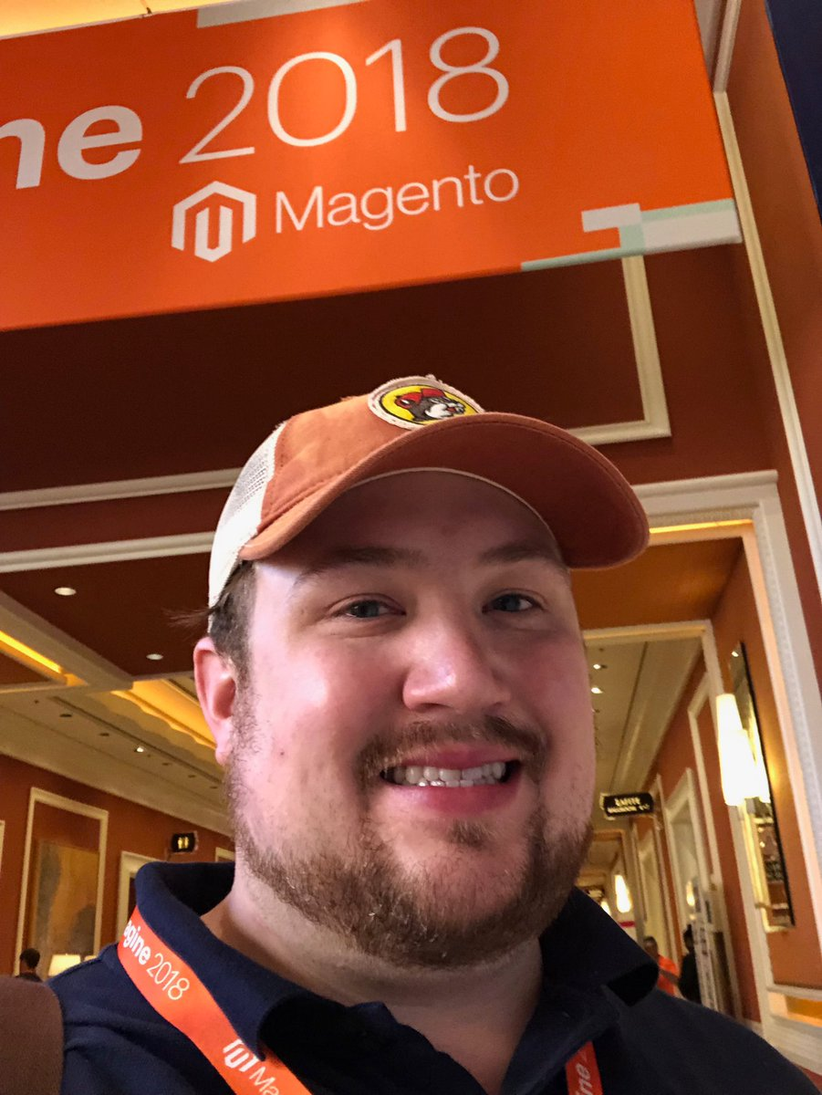 billygilbert: My #MagentoHatMonday brought to you by @bucees! #MagentoImagine https://t.co/pPjcxAmf4t
