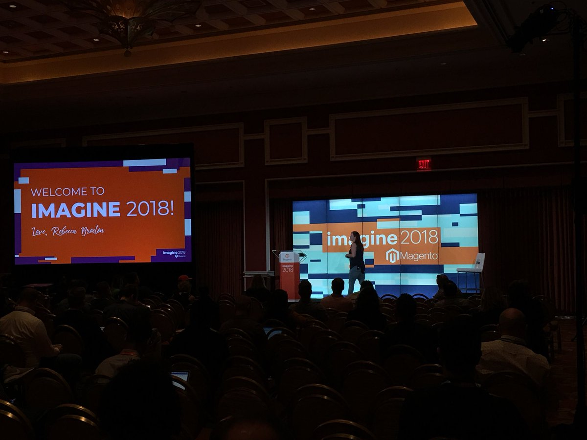 janakkika: @RebeccaBrocton Leading the Charge with our first talk #magentoimagine https://t.co/Scz0UX0P44