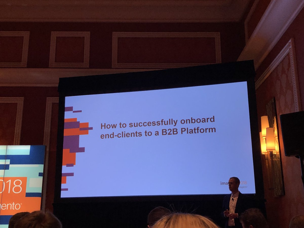 danielalbro: Customer onboarding in #B2B ecommerce at #MagentoImagine Looking forward to this https://t.co/SVD4YJySgw