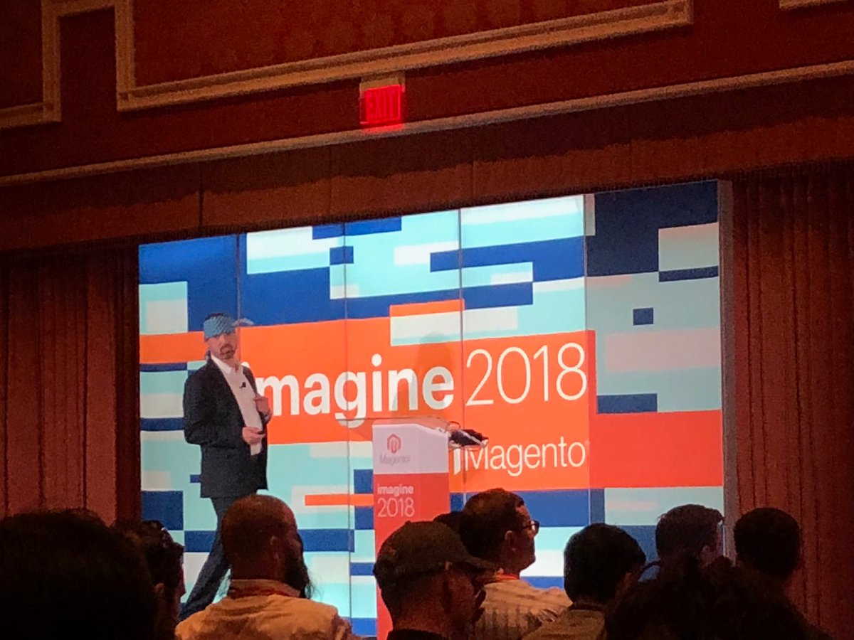 p3mbo: Kicking it all off with a PWA Talk from @JamesZetlen #MagentoImagine https://t.co/ucI1YMArou