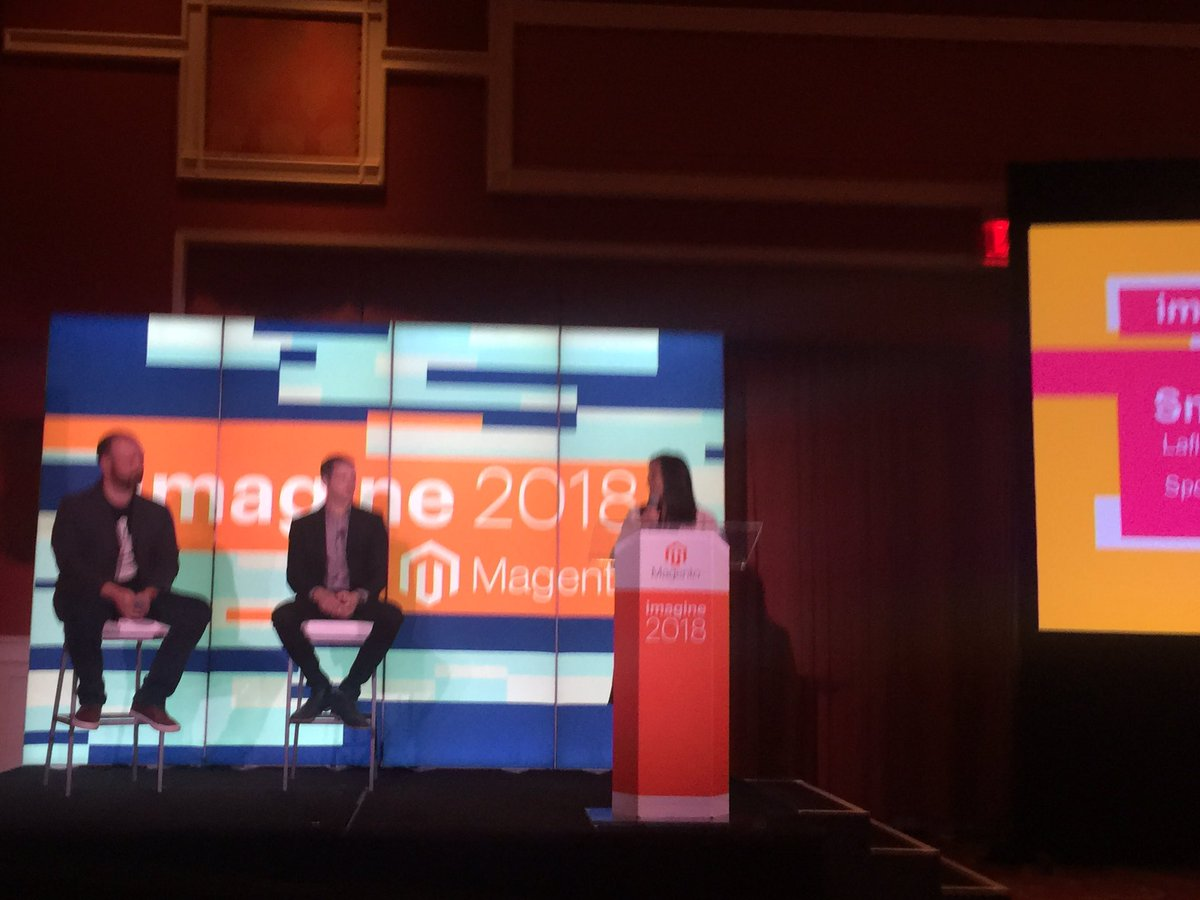 elainesloboda: Great to see our partners @NorthernComm and @MailChimp tearing up the stage to kick off #MagentoImagine https://t.co/tK0wRhMdUq