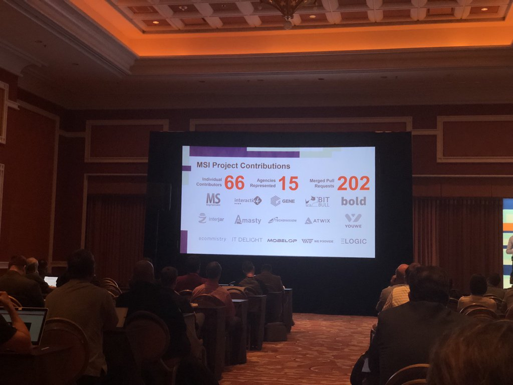 maksek_ua: #MagentoImagine impressive statistic for #MagentoMSI project led by community. https://t.co/xIrUzNqi66