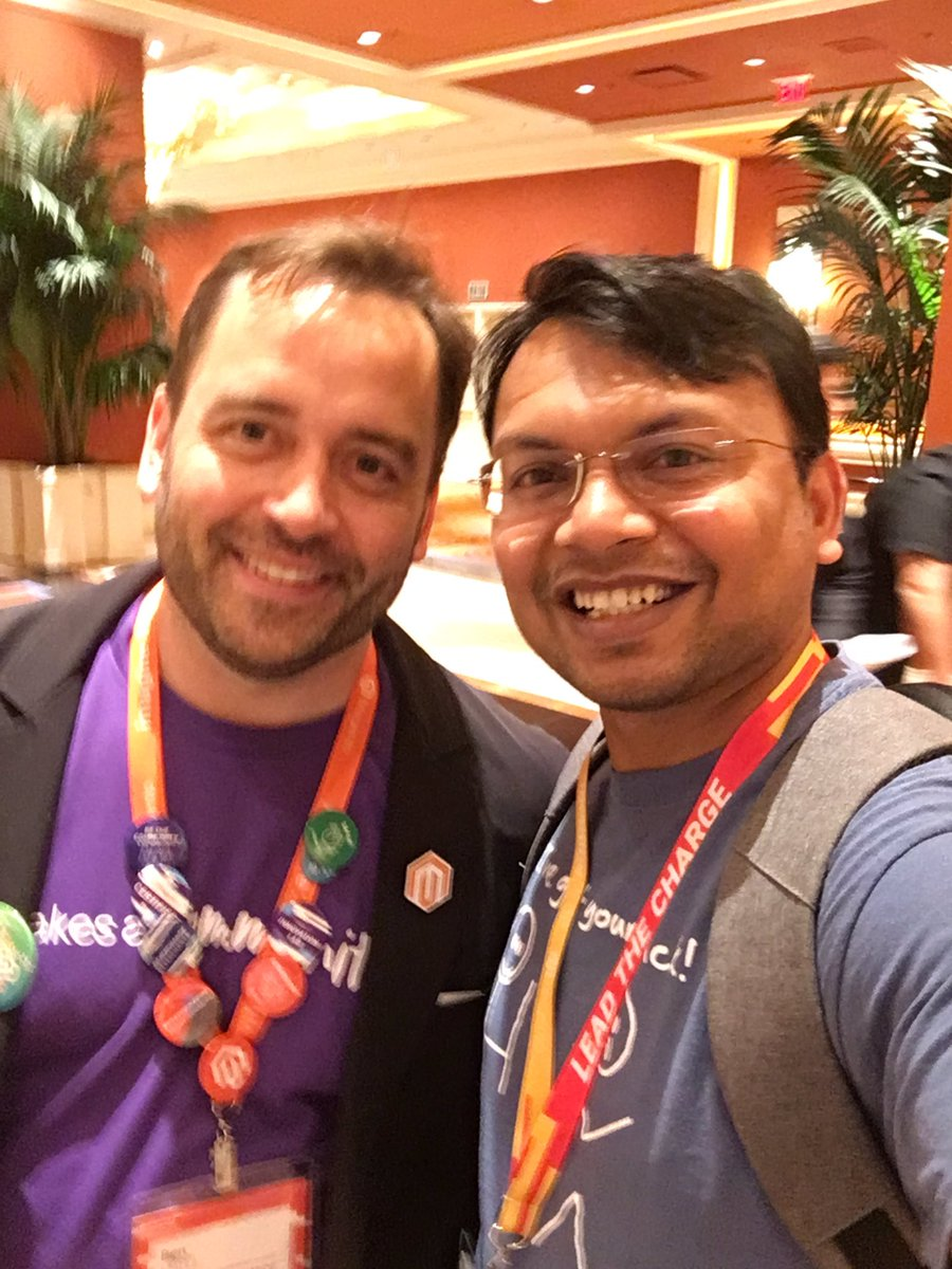 kalpmehta: with @benmarks #MagentoImagine https://t.co/YZ7kICf08P