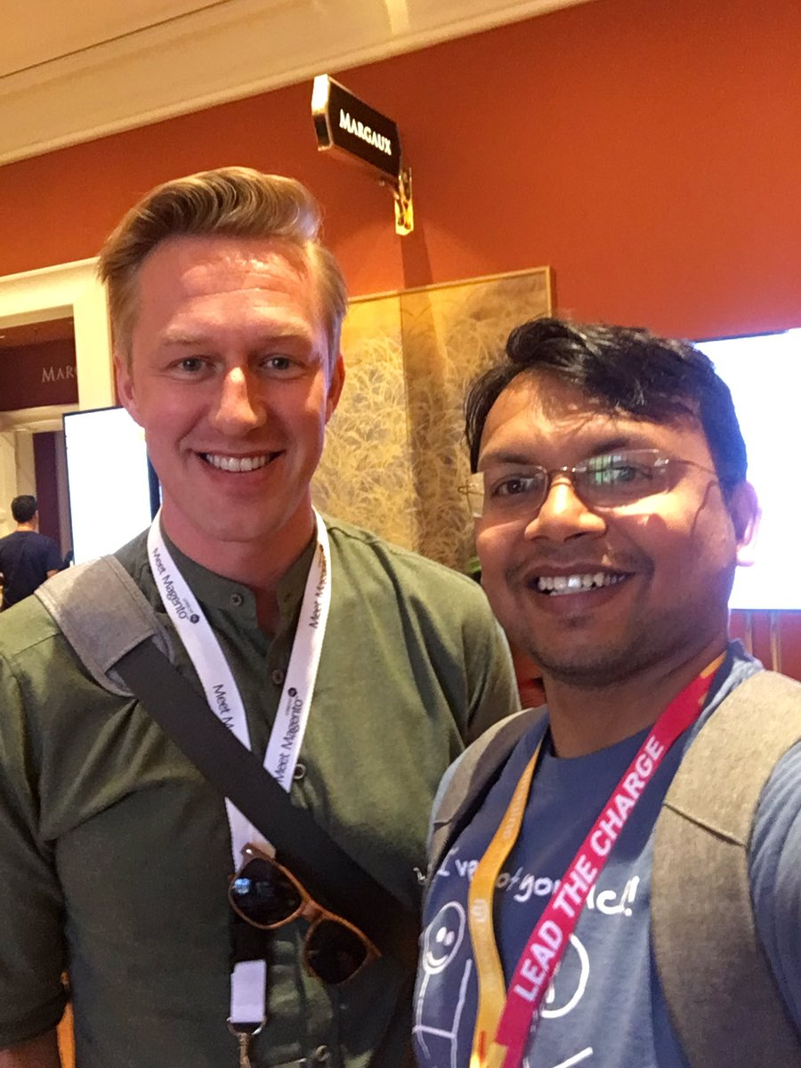 kalpmehta: with @guido #MagentoImagine https://t.co/V9dNIaPfBl