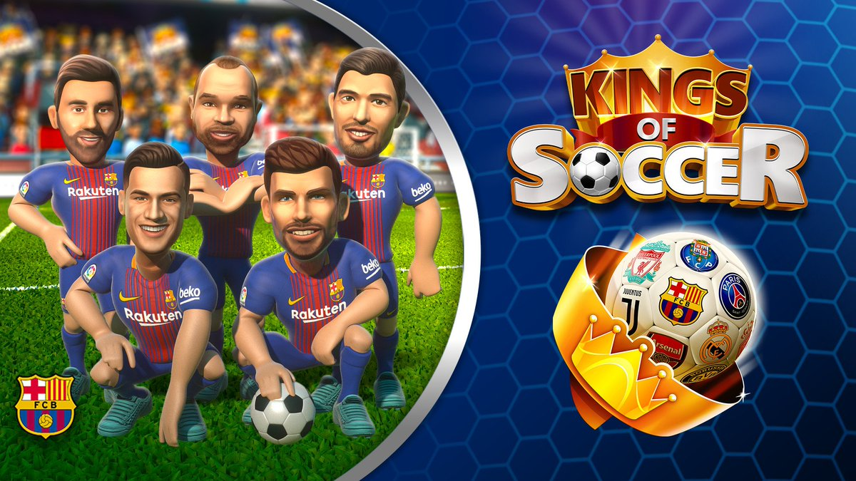 RT @FCBarcelona: ???? Ready to be the next King of Soccer? Available now on iOS & Android.  ???? https://t.co/6gwIR0lvrS https://t.co/fHzOsiW016