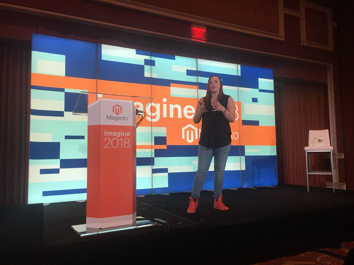 arjenmiedema_nl: Big eye-opener by @RebeccaBrocton at #MagentoImagine, talking about #omnichannel and how this should/could improve https://t.co/V5ypRMg5W4
