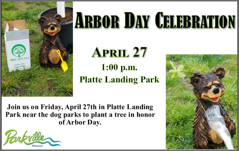 test Twitter Media - Join @parkvillemo on Friday, April 27th at 1:00 p.m. near the dog parks in Platte  Landing Park for our annual Arbor Day Celebration. Help plant a tree in observance of Arbor Day. https://t.co/XFOxttr3ia