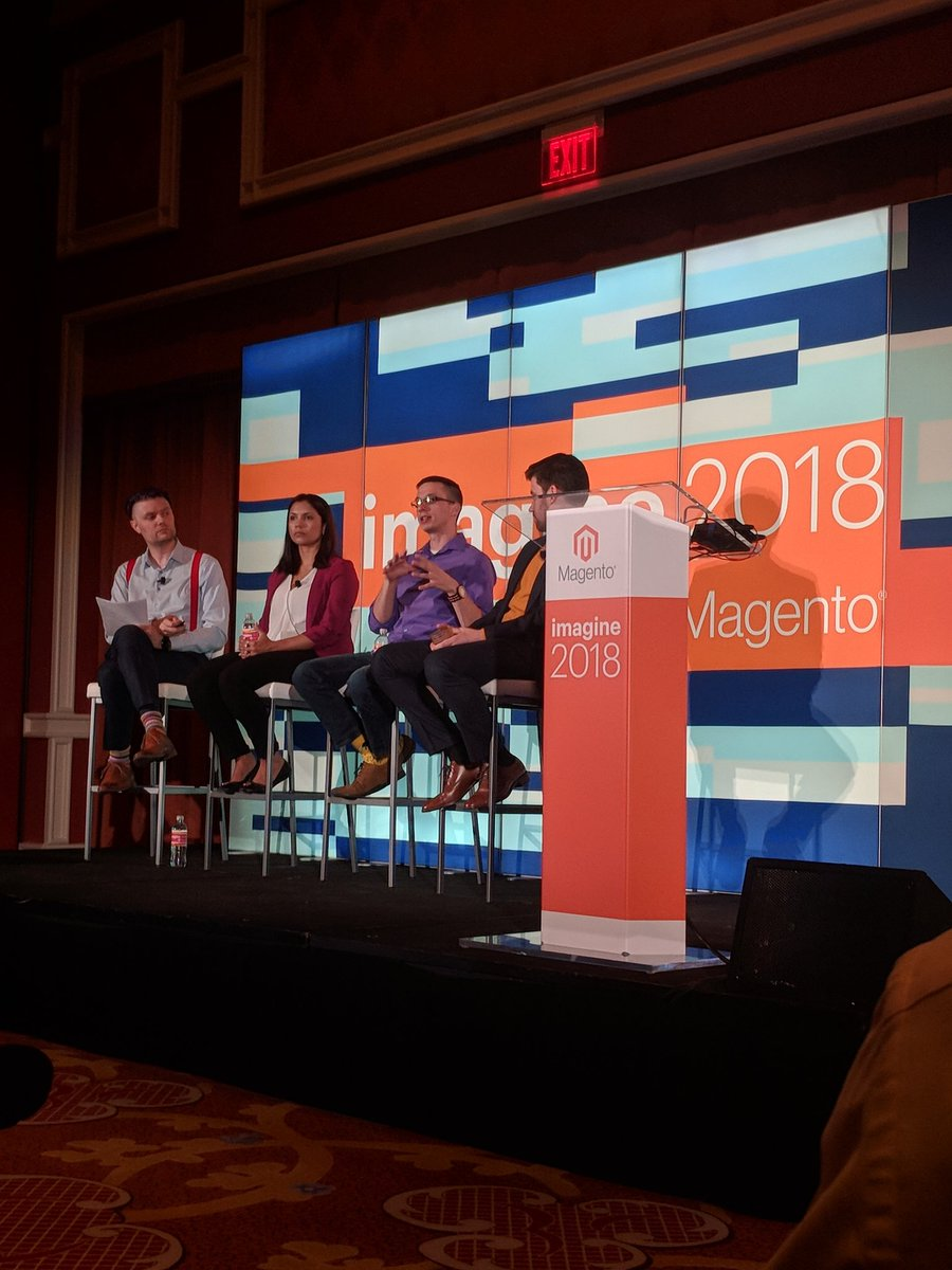 davidaaronyoung: Listening to @BakerDist talk about their migration to #magento2 and their #b2b experience.  #Magento #MagentoImagine https://t.co/SmXrvVtgbV