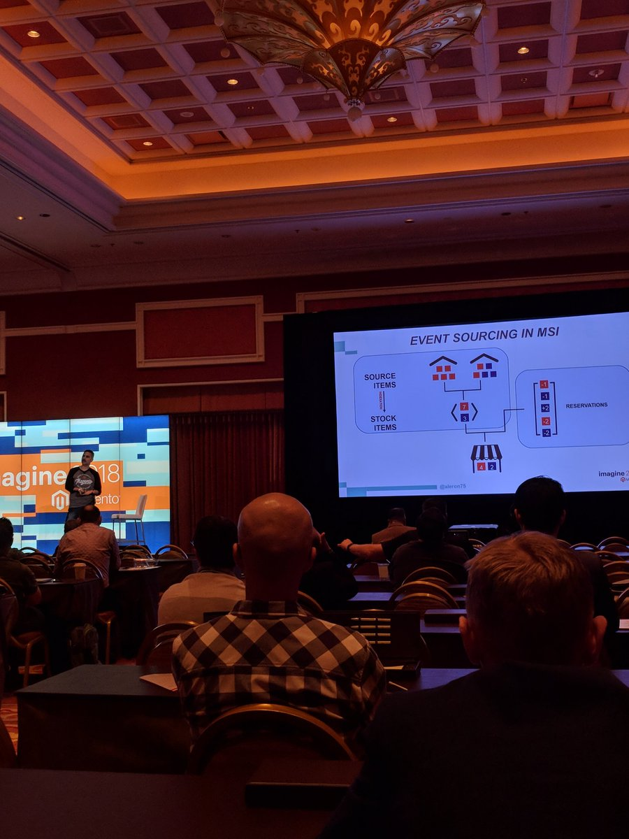 jasonevans1: Learning about the design patterns used in the development of MSI. A very good presentation. #MagentoImagine https://t.co/t5I6zCFVAX