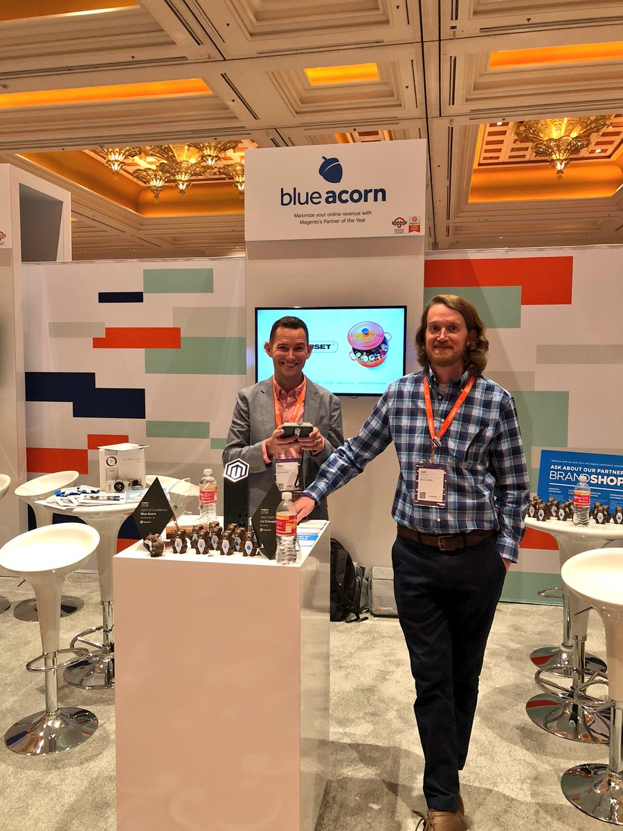 blueacorn: At #MagentoImagine? Swing by booth #305 to learn how we help brands and retailers maximize their online revenue 💰 https://t.co/ie8YCkfcBR