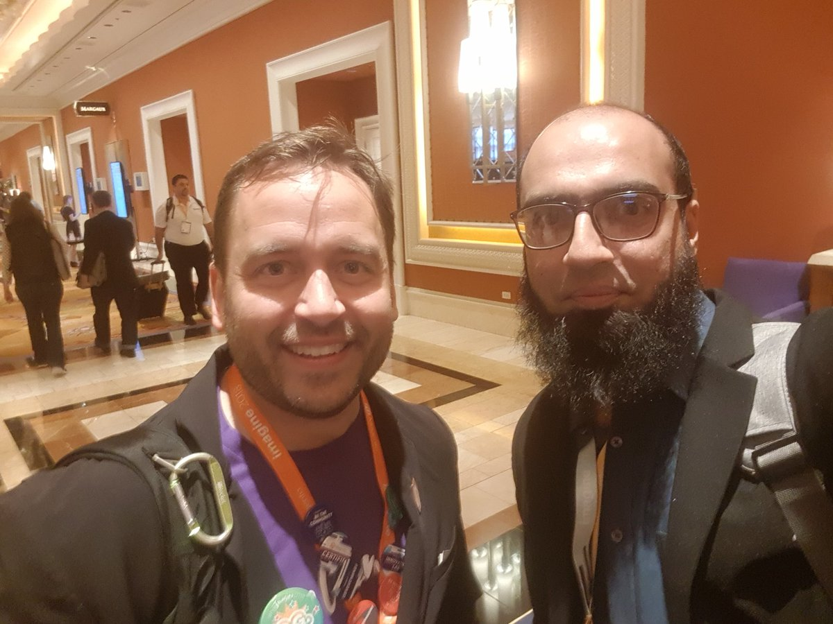 MIdreesButt: With the guy responsible for connecting global Magento enthusiasts #MagentoImagine @benmarks https://t.co/OfseMAIKVH