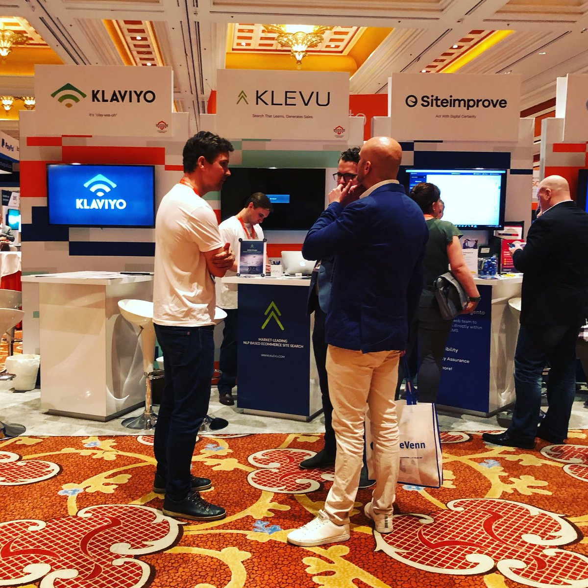klevusearch: Jussi and Ford representing the Klevu team on our booth #MagentoImagine https://t.co/qJOi6pA8B8