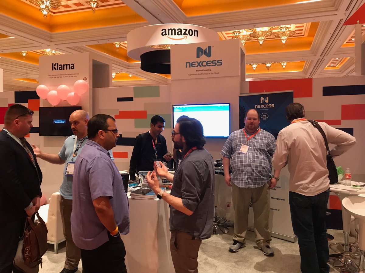 CalEvans: You can tell it is a slow time at the @nexcess booth, I can get close enough to take a picture. :) #MagentoImagine https://t.co/wIl1V2XwmT