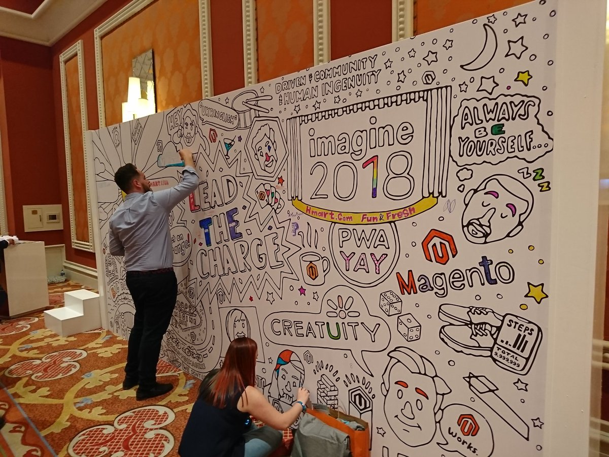 richbaik: Come to the marketplace and share your thoughts on the mural! @magento #MagentoImagine @Creatuity https://t.co/xIv6OlxdQy