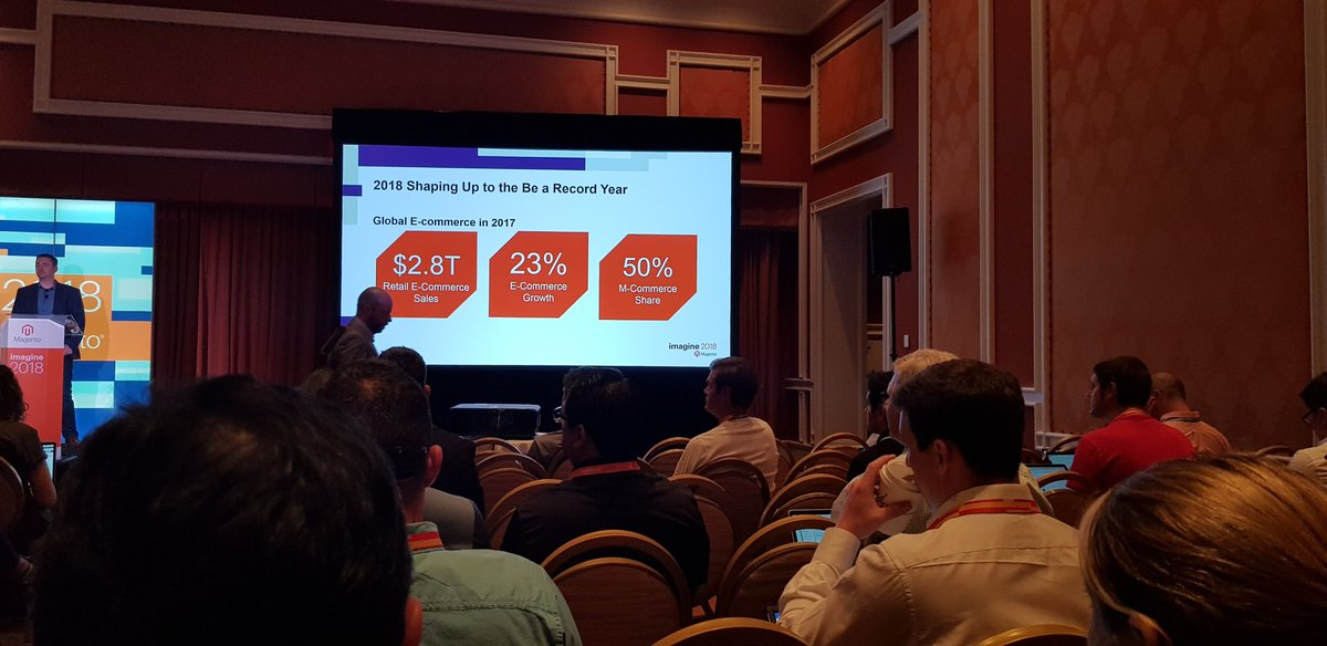 sarmadhassan: Global Ecommerce state of affairs #MagentoImagine https://t.co/Iv0JLD8My2