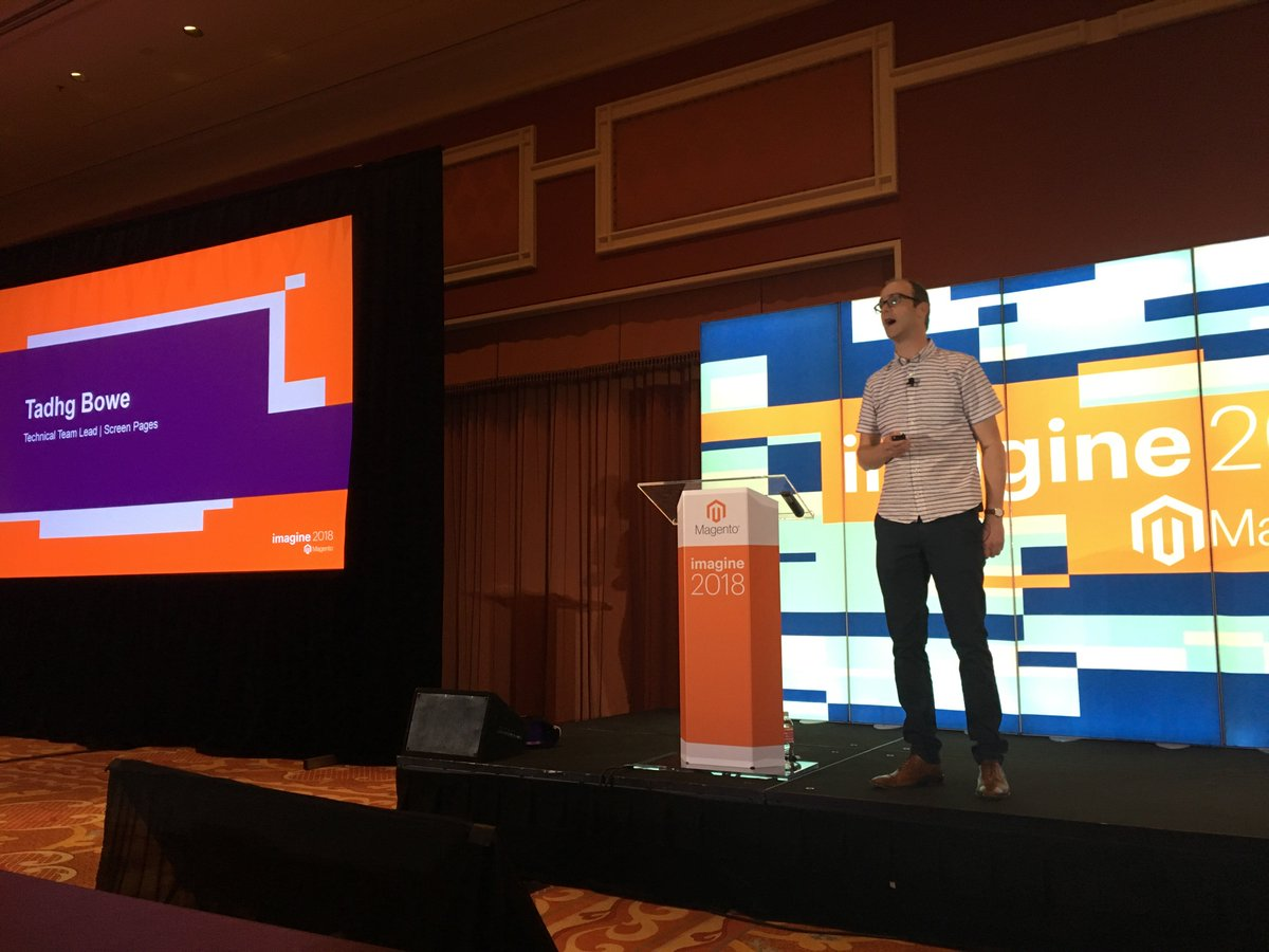 jcowie: Can't wait to hear about migrations from m1 to m2 by the always entertaining @TadhgBowe #MagentoImagine https://t.co/SUwgPDkqnx
