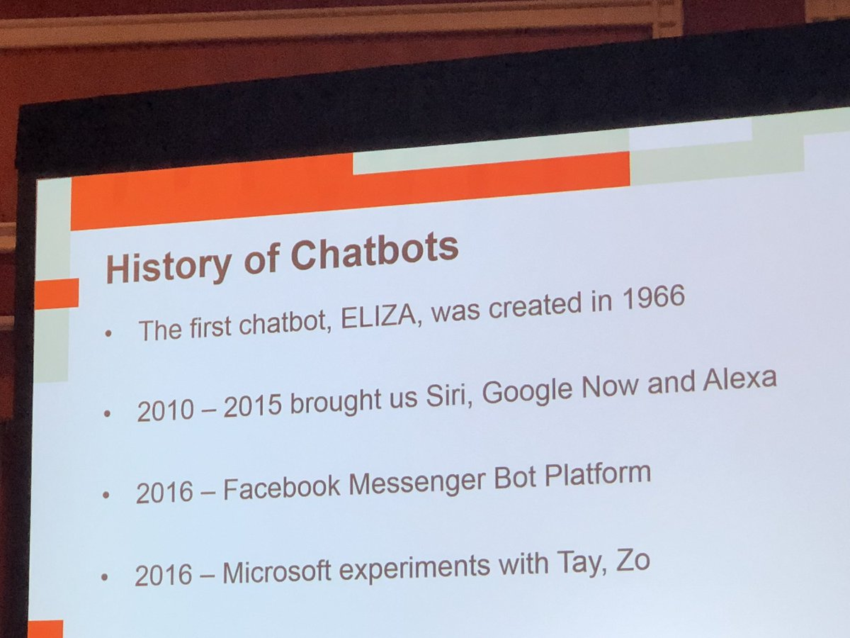 Morgan_Sacco: @Creatuity & chatbots! @magento #MagentoImagine https://t.co/qLDcCE6F48