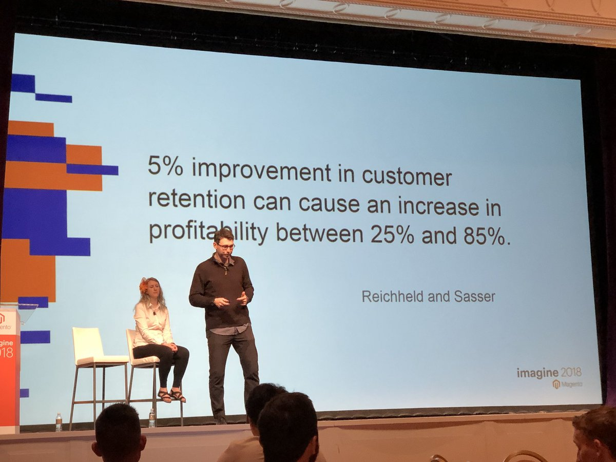 danielalbro: Here's putting direct ROI on customer retention and in turn on customer experience #MagentoImagine #UX https://t.co/JRoHOXgv9y