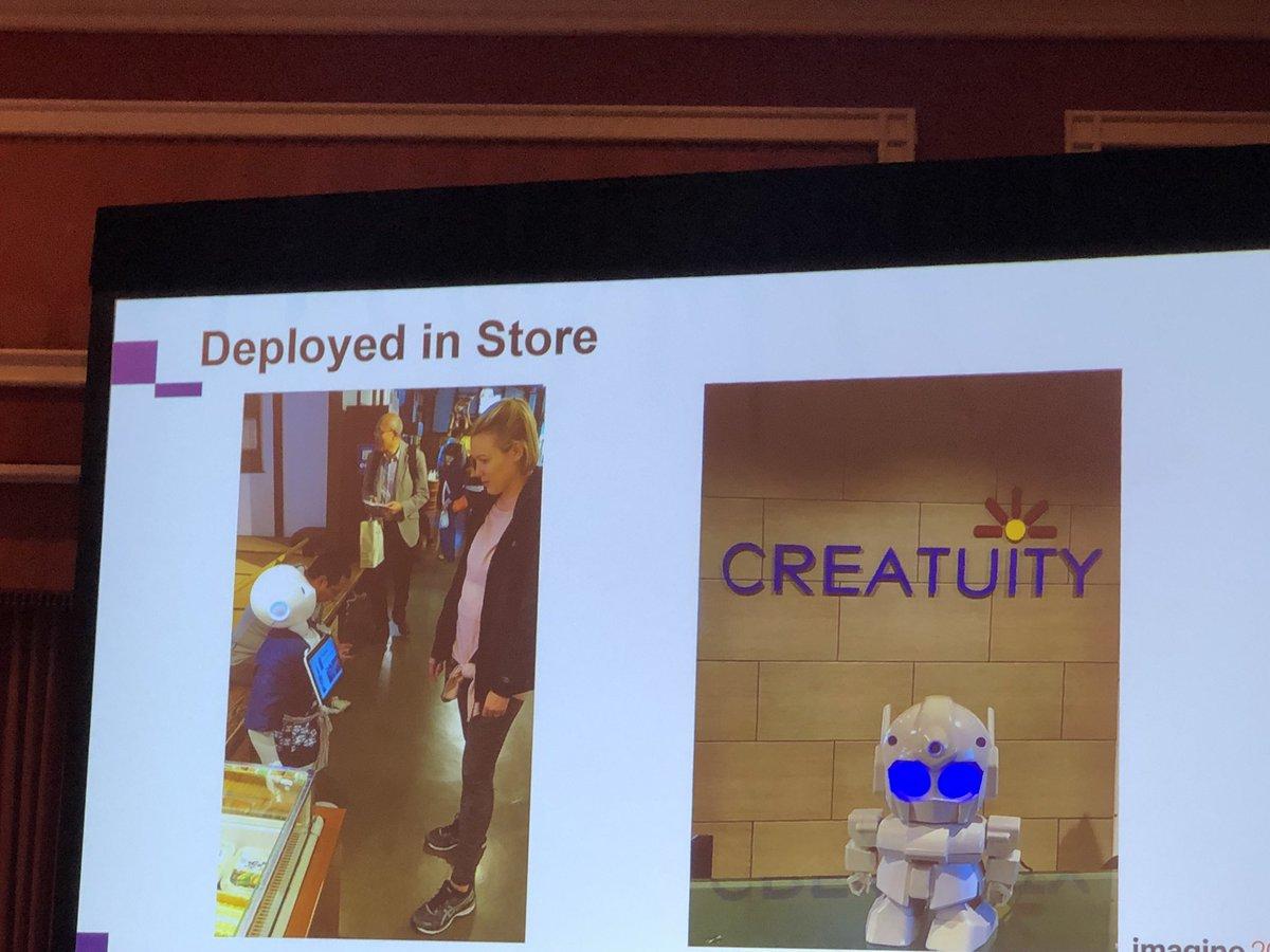 Morgan_Sacco: @Creatuity @magento Robots & @magento! #MagentoImagine https://t.co/NqsOPTcKos