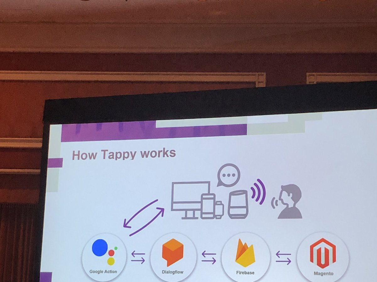 Morgan_Sacco: @netstarter's Tappy voice assistant with @magento integrations. #MagentoImagine https://t.co/1NMt2rHLva