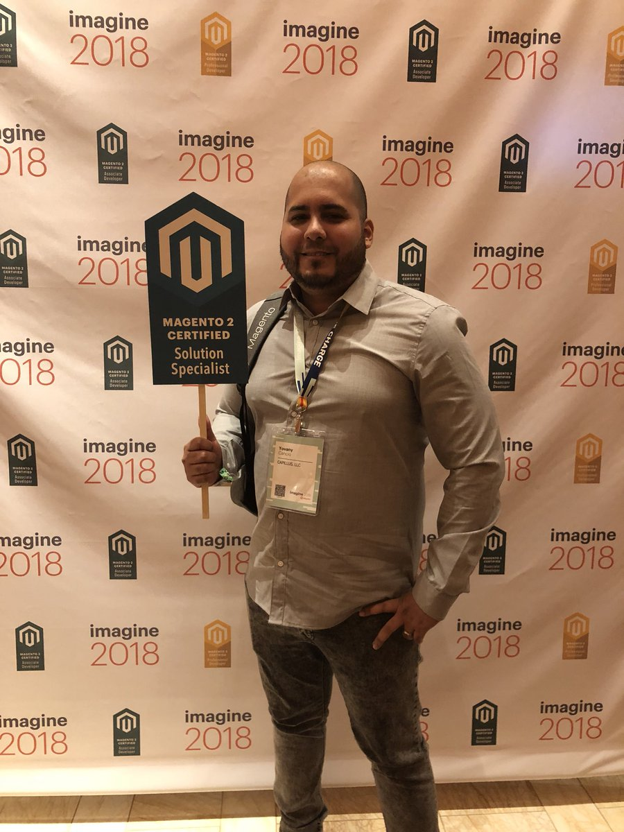 MagentoU: Congrats to Yovany Cancio on passing your M2 Solution Specialist exam! #magentoimagine @yovanycancio https://t.co/aYIRbVgmBU