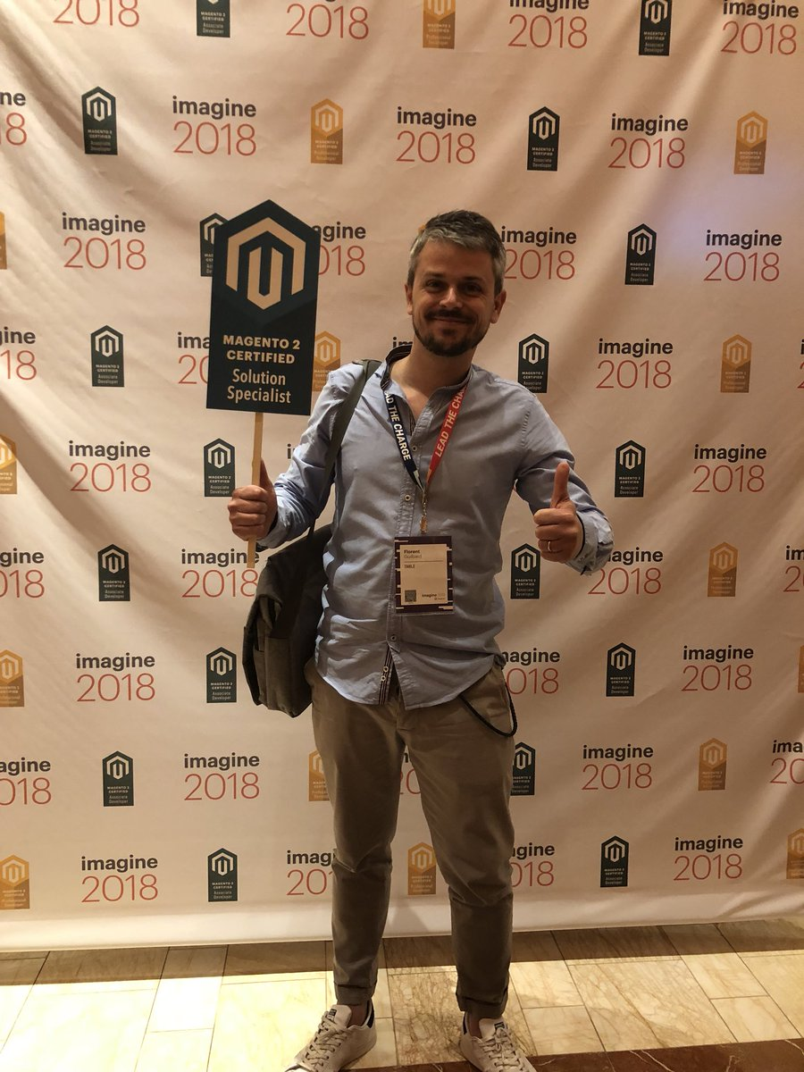 MagentoU: Congrats to Florent Guilbard on passing your M2 Solution Specialist Exam #magentoimagine @FlorentGuilbard https://t.co/MAqpJPZUU7