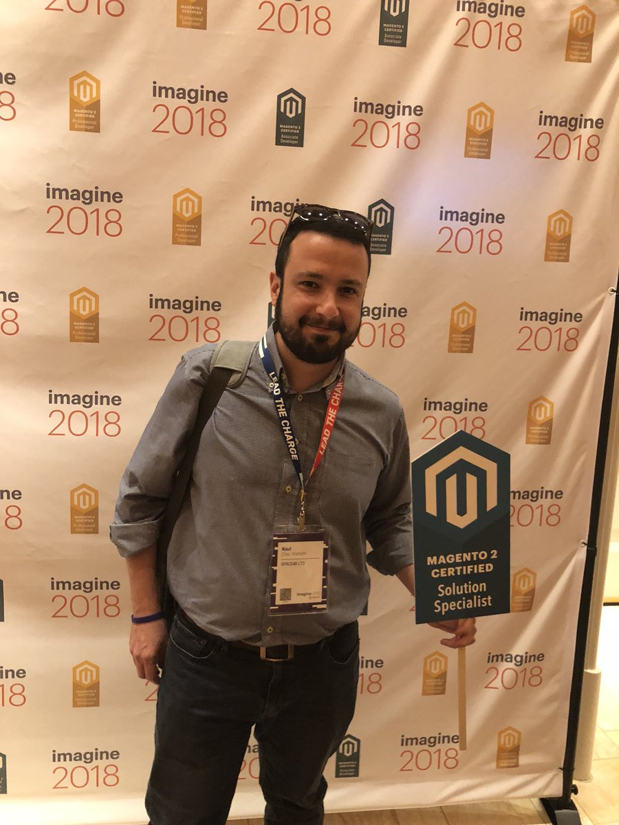 MagentoU: Congrats to Raul Watson on passing your M2 Solution Specialist exam! #MagentoImagine @diazwatson https://t.co/4dwNytVyfu