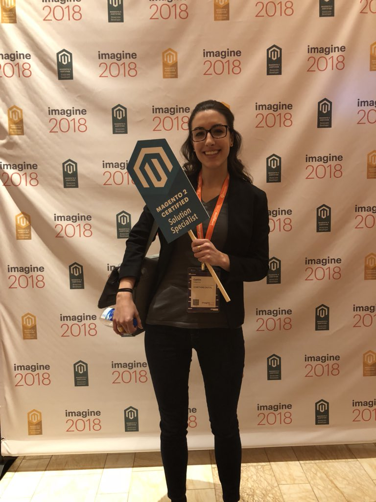 MagentoU: Congrats to Caitlin Mekita on passing your M2 Solution Specialist exam! #magentoimagine https://t.co/B3EIVvzYxz