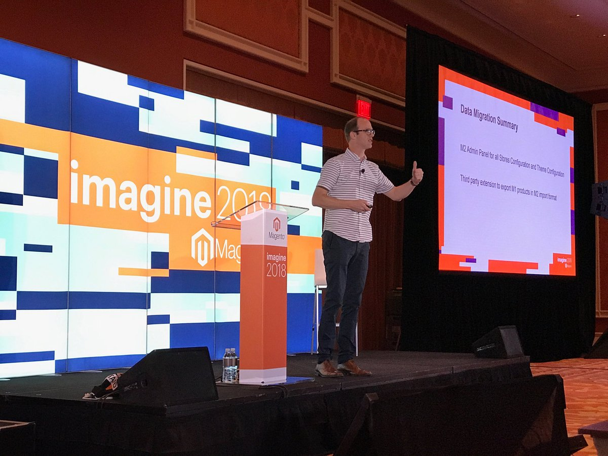 tomouse55: @TadhgBowe absolutely nailing his Technical Track presentation at #MagentoImagine. Everyone loved the song! https://t.co/7xkGZ23jAO