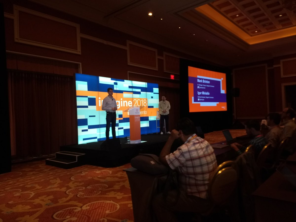 aleron75: The story of the biggest community developed feature told us by @markabrinton and @iminyaylo at #MagentoImagine https://t.co/Dqxl9bx1Wg