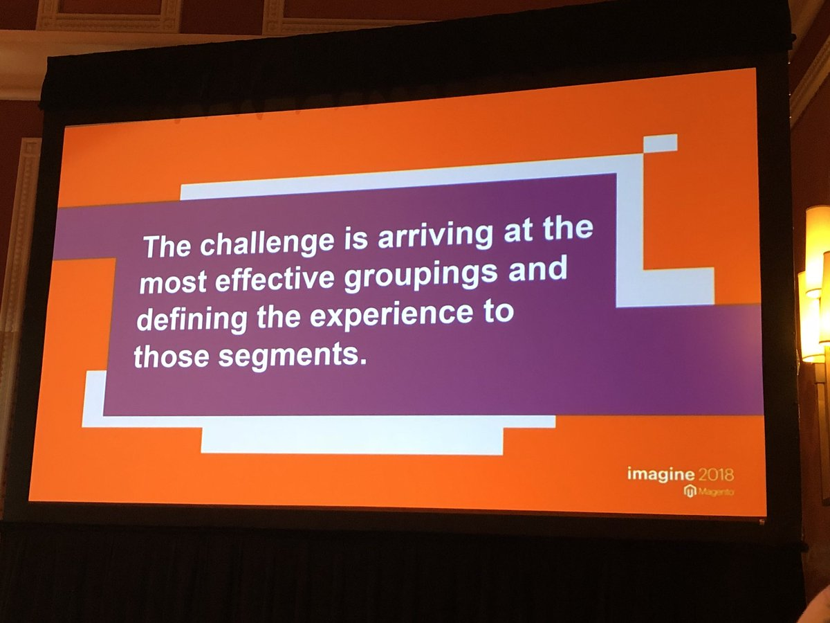 blueacorn: The challenge of personalizing to B2B audiences is largely around segmentation #MagentoImagine https://t.co/eDeqQEqSJo