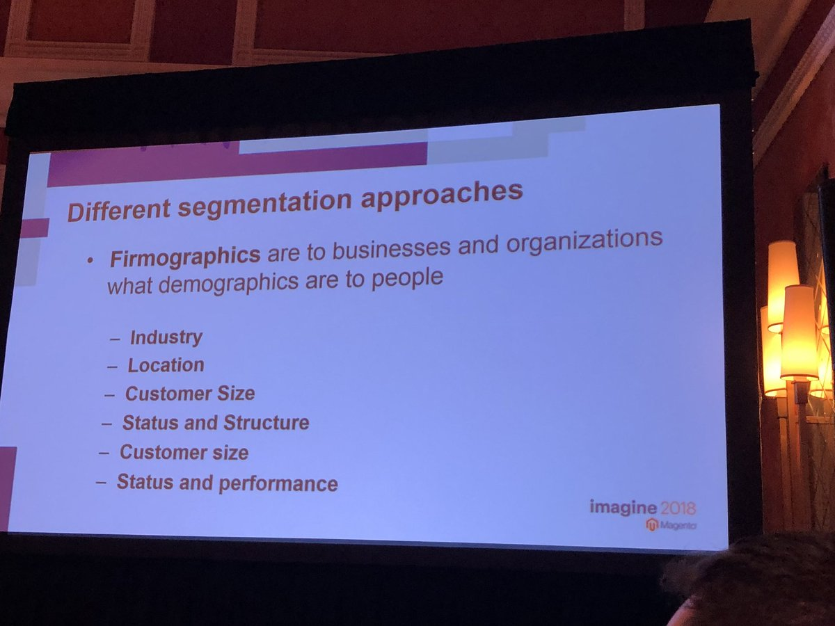 blueacorn: You've heard of demographic segmentation.. but what about #firmographics? #MagentoImagine https://t.co/F38FXlOJPC
