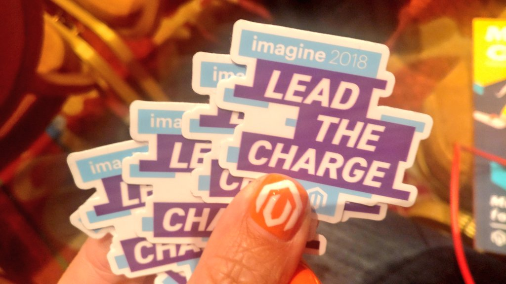 sherrierohde: Find @benmarks or myself if you'd like a 2018 #MagentoImagine sticker! https://t.co/zwZW5uUTLX