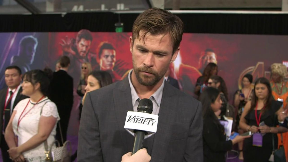 .@ChrisHemsworth says InfinityWar sees a different version of Thor